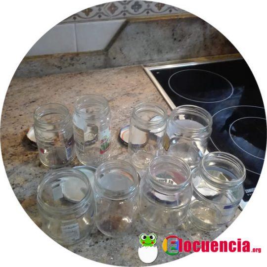 frascos limpios para conservar comida sin congelar