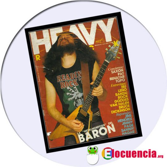Portada revista heavy rock