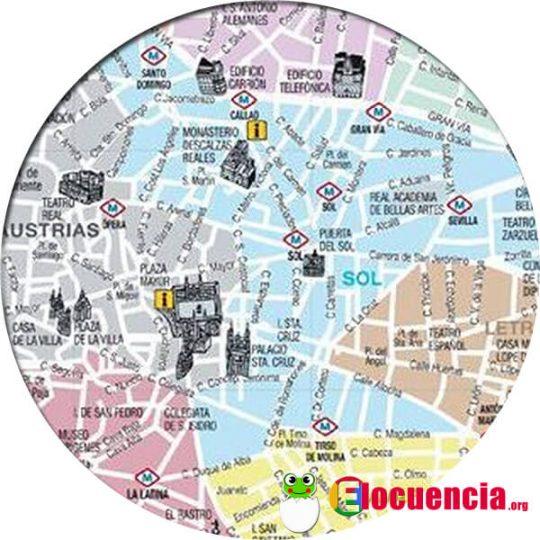 plano gratis para descargar de madrid zonas turisticas