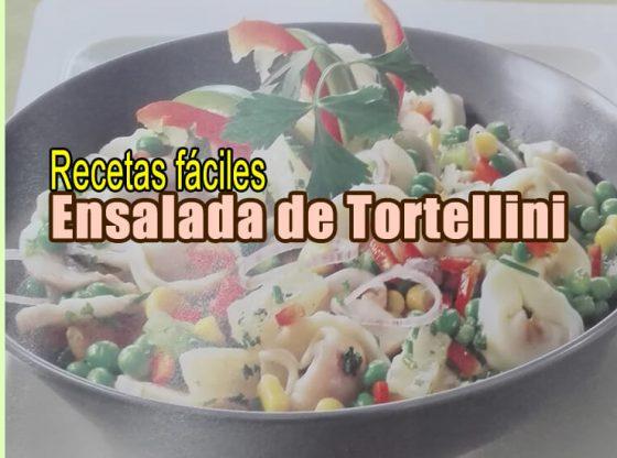 Recetas sanas para bajr el colesterol. Ensalada de Tortellini