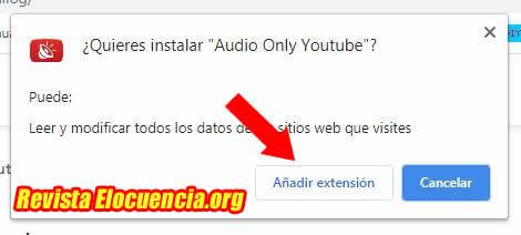 extensión audio only youtube
