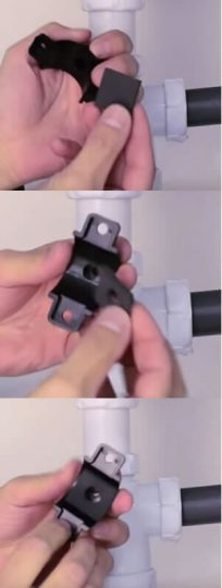 instalar collarin de desague