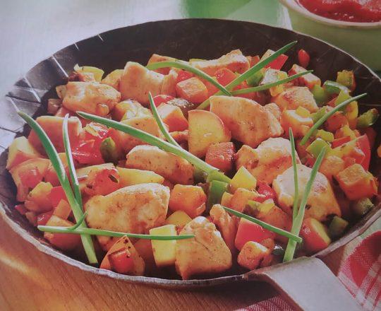 Pollo a la manzana bajo en colesterol