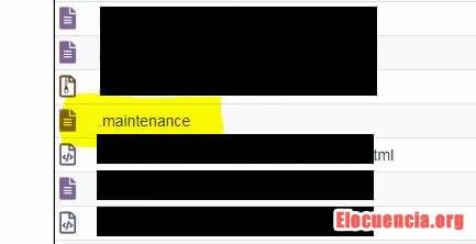 donde está el archivo maintenance de WordPress
