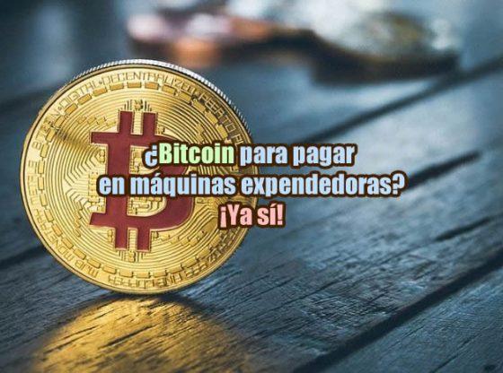 Bitcoin para pagar en máquinas expendedoras