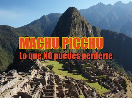 Imagen aerea de Machu Picchu en Perú. Lugares importantes