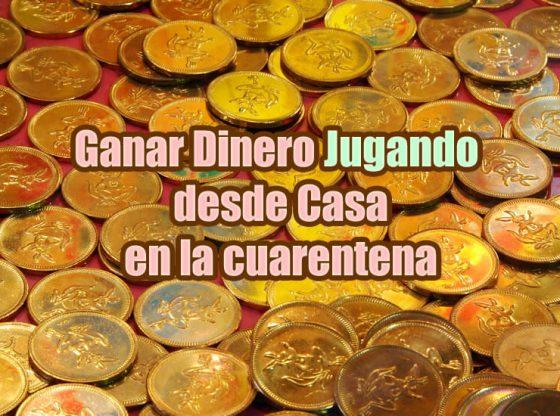 imagen de monedas sobre artículo de como ganar dinero desde casa jugando