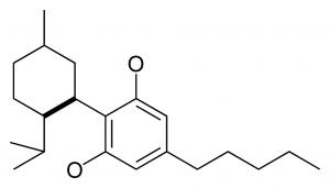 molécula del cbd o canabidil