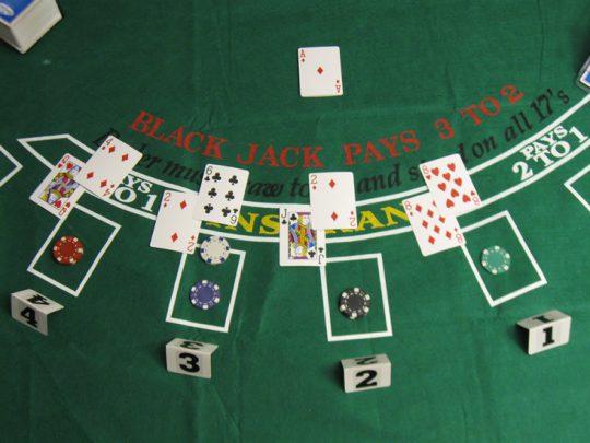 blackjack 21. Imagen de mesa de juego