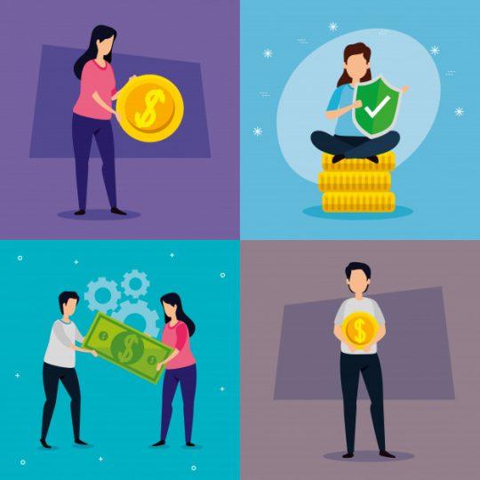 imagen iconográfica de jóvenes inversores