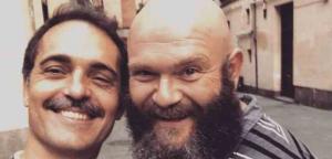 Imagen en la que aparecen Pedro Alonso e Darko Peric