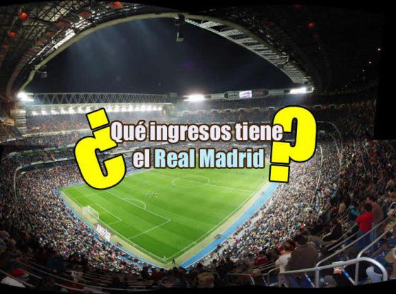 imagen de portada del rtículo sobre los ingresos de los clubes de futbol en los que aparece una foto desde la esquina del estadio Santiago Bernabéu abarrotado